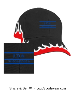 Flame, Low Profile Racing Team Cap Design Zoom